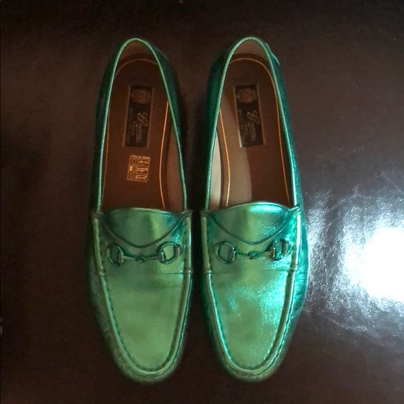 f0ff66168e1e Gucci Shoes - Metallic green Gucci loafer
